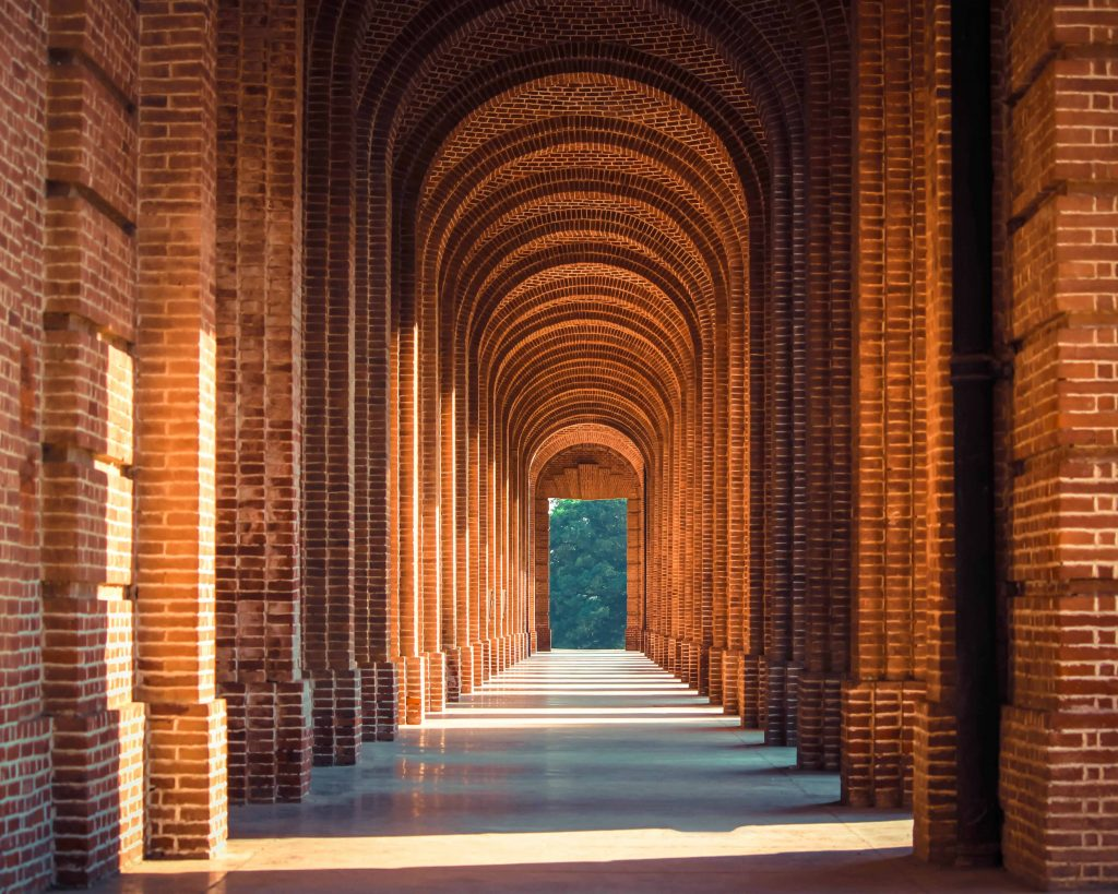Red brick arches