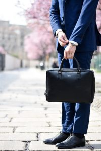 Man in suit with briefcase